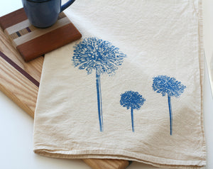 Blue Allium Flour Sack Towel