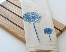 Load image into Gallery viewer, Blue Allium Flour Sack Towel
