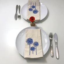 Load image into Gallery viewer, Blue Allium Napkin Set of 2