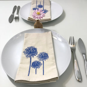 Blue Allium Napkin Set of 2