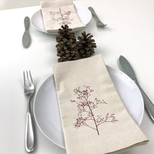 Load image into Gallery viewer, Berry Branch Cotton napkin set of 2