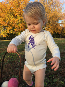 Butterfly Long Sleeve Baby Bodysuit