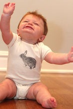 Load image into Gallery viewer, Bunny Short Sleeve Baby Bodysuit