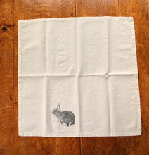 Load image into Gallery viewer, Bunny Cotton Napkins, set of 2