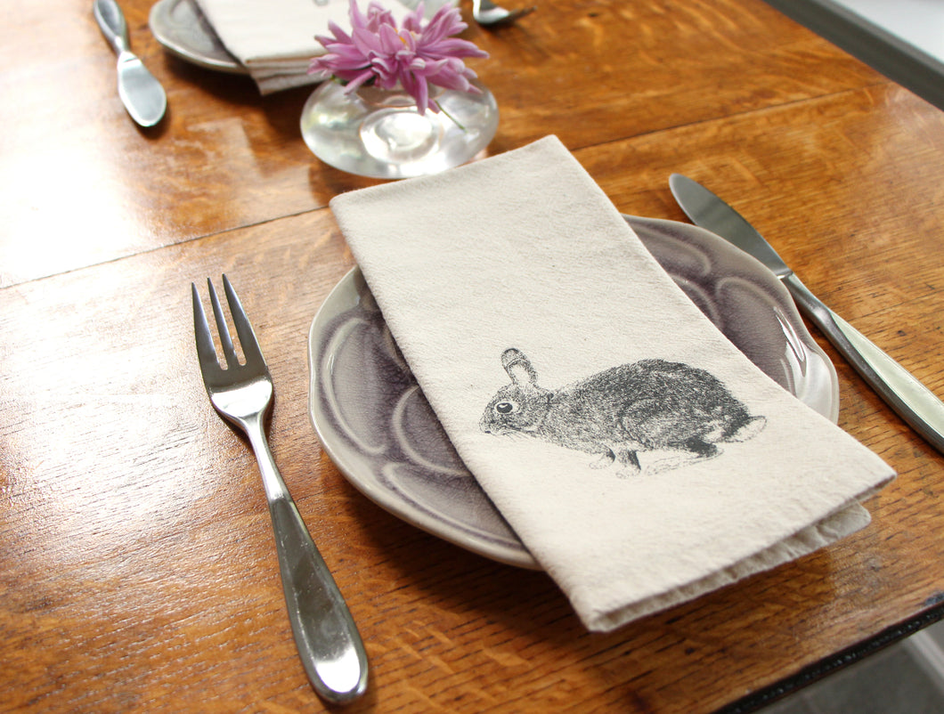 Bunny Cotton Napkins, set of 2
