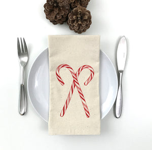 Candy Cane Napkin Set of 2