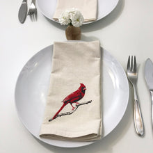 Load image into Gallery viewer, Cardinal Red Bird Napkin Set of 2