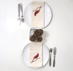 Cardinal Red Bird Napkin Set of 2