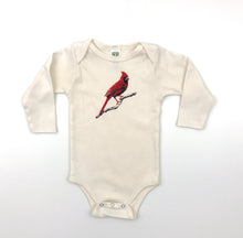 Load image into Gallery viewer, Cardinal Long Sleeve Onesie