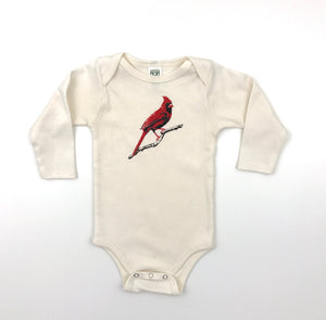Cardinal Long Sleeve Onesie