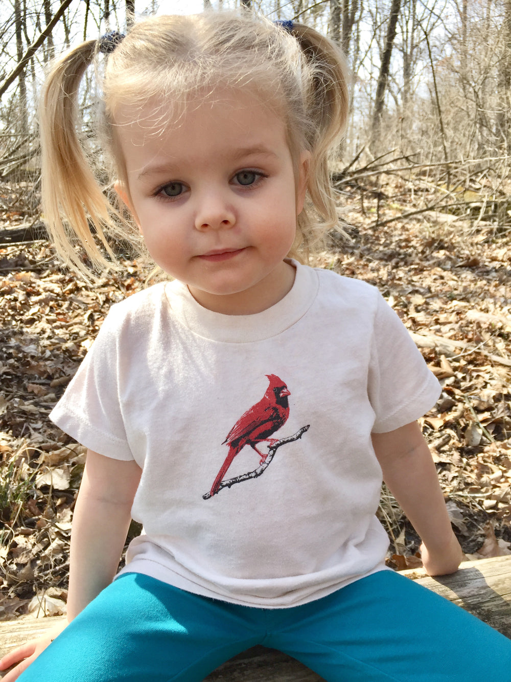 Cardinal Red Bird Toddler and Kid's Tshirt