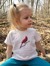 Load image into Gallery viewer, Cardinal Red Bird Toddler and Kid's Tshirt