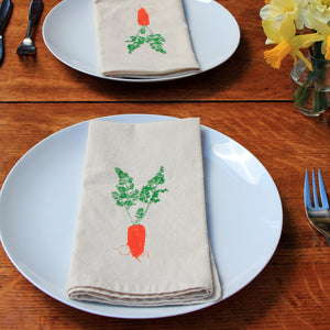 Carrot Napkin Set of 2