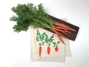 Carrot Flour Sack Towel
