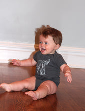 Load image into Gallery viewer, Elephant Short Sleeve Baby Bodysuit