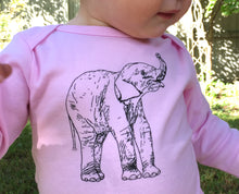 Load image into Gallery viewer, Elephant Long Sleeve Baby Bodysuit