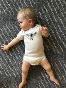 Bee Short Sleeve Baby Bodysuit