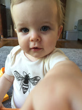 Load image into Gallery viewer, Bee Short Sleeve Baby Bodysuit