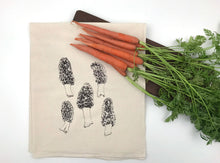 Load image into Gallery viewer, Morel Mushrooms Flour Sack Towel