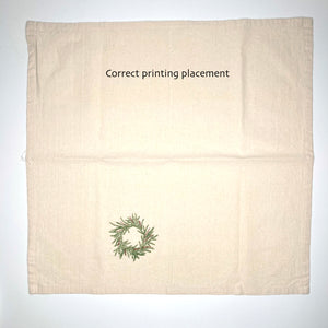 Oops! Upside down Wreath Napkin Set of 2