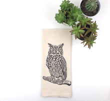 Load image into Gallery viewer, Owl Flour Sack Towel