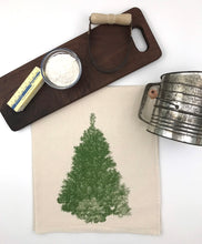 Load image into Gallery viewer, Christmas Tree Flour Sack Tea Towel