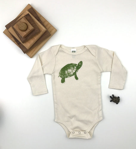 Turtle Long Sleeve Onesie