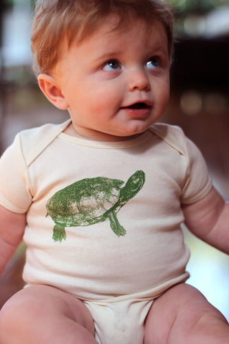 Turtle Short Sleeve Onesie