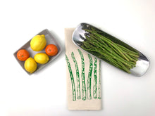 Load image into Gallery viewer, Asparagus flour sack kitchen tea towel