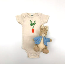Load image into Gallery viewer, Carrot short sleeve baby bodysuit