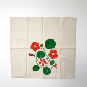 Nasturtium flower napkin set of two