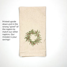 Load image into Gallery viewer, Oops! Upside down Wreath Napkin Set of 2