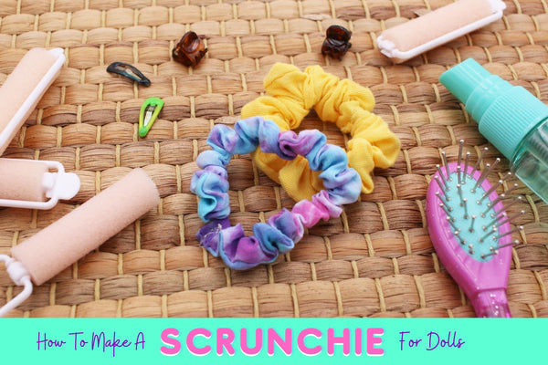 Doll-Sized Scrunchie Tutorial DIY