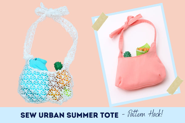 Sew Urban Pattern Hack Summer tote Tutorial For 18-inch dolls
