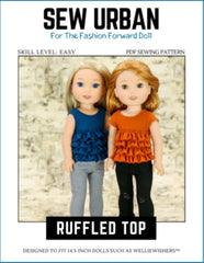 Sew Urban Ruffled Top Pattern For 14.5-inch Dolls