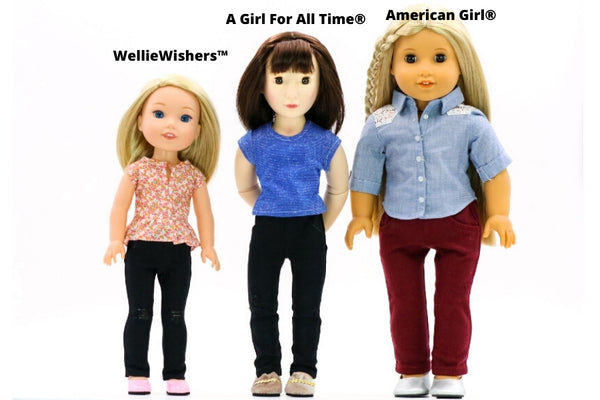 A Girl For All Time vs American Girl vs WellieWishers