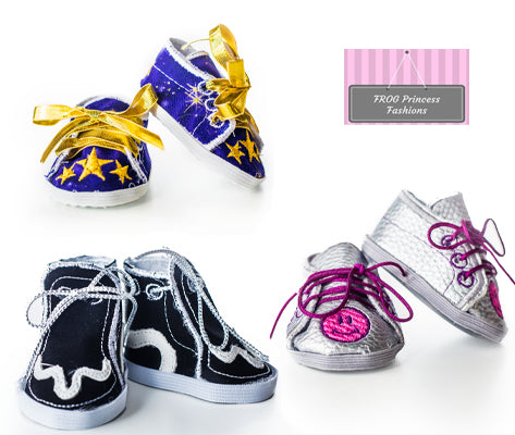 """Debs LT YELLOW Princess Flats Doll Shoes For 14/"""" Am Girl Wellie Wisher Wishers"""