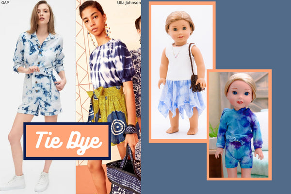 Tie Dye Summer 2020 Trends To Sew For Your Doll