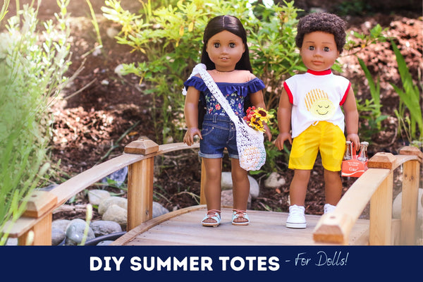 DIY Summer Tote Bags For 18-inch dolls