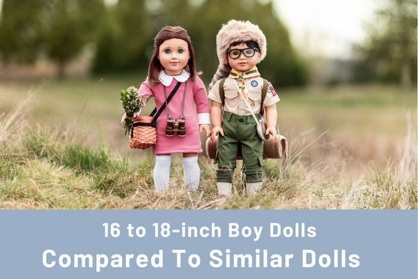 Boy Dolls Compared to 18-Inch American Girl® dolls
