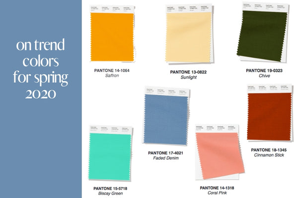 2020 Spring Trend Colors
