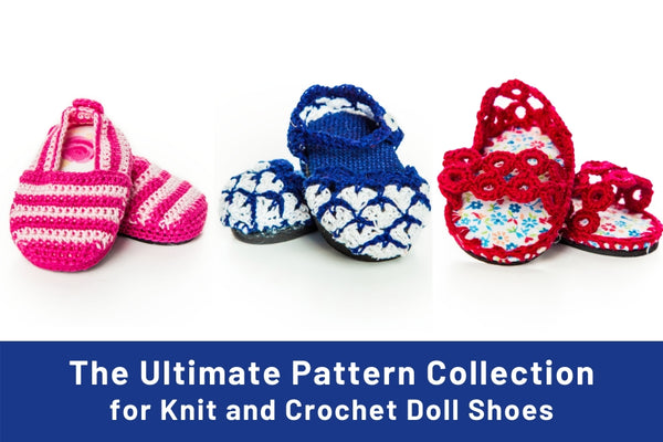 How to Make Knit and Crochet Doll Shoes