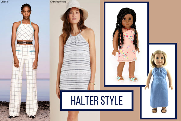 Halter Tops and Dresses Summer 2020 Trends To Sew For Your Doll