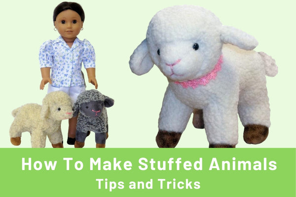Tips for making your own stuffed animal pet for 18-inch dolls