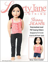 A Girl For All Time Clothes Jeans Pattern