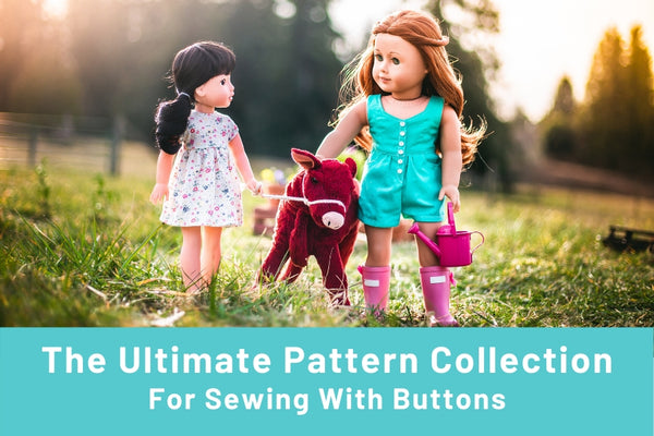 Doll Clothes Sewing Patterns With Buttons