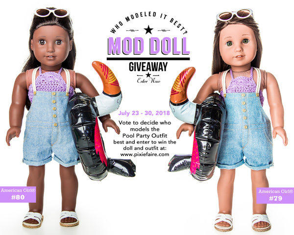 7400efe4bc51 ... us decide which American Girl® doll models it best and be entered into  the giveaway to win the doll that receives the most votes and the custom  outfit!