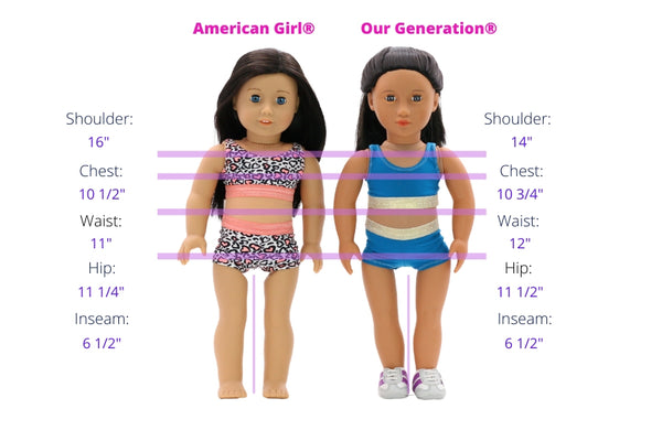 3 Pack Doll Underwear Hip Hugger Pink Blue White fits American Girl Our Generat