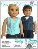 Doll clothes Knitting Pattern Vest