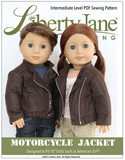 Doll Clothes Pattern Motorcycle Leather Jacket
